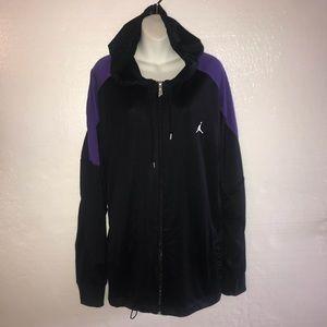 Nike Jordan Hoodie Jacket Black Purple XXL B17